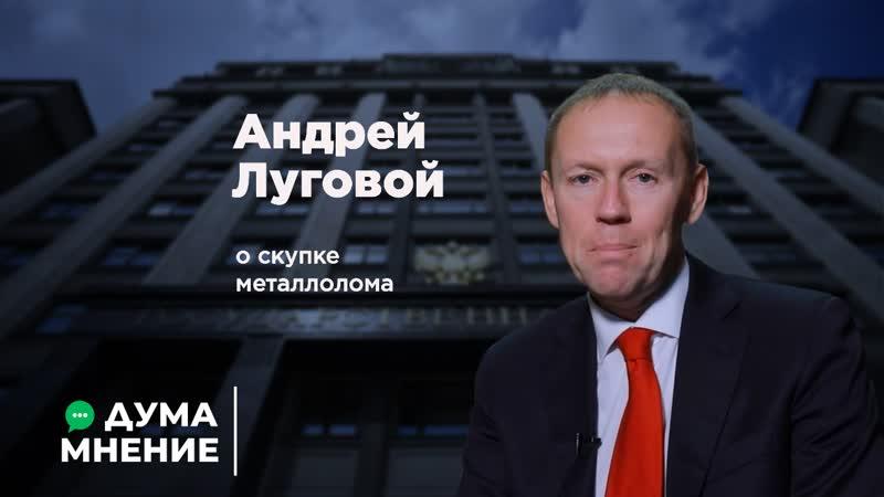 ДумаМнение Андрей Луговой о скупке металлолома