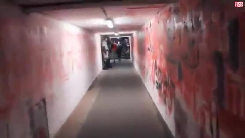 This is the tunnel the Liverpool players will have to walk down to face Red Star Belgrade on Tuesday.