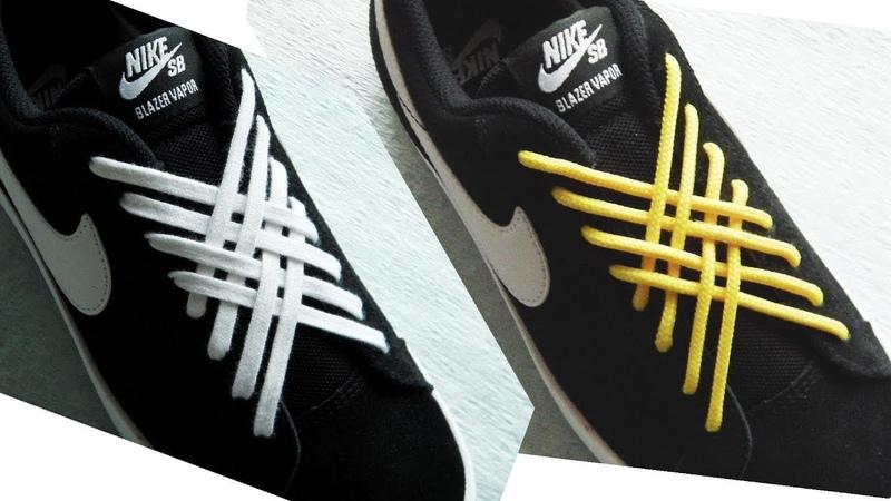 〔靴紐の結び方〕チョコレート菓子「紗々」のような模様になる靴ひもの通し方 how to tie shoelaces 〔生活に役立つ!〕