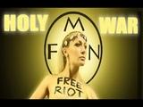 Femen saws a Memorial Cross in Kiev - Femen scie la Croix comm