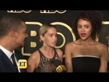Каст Игры престолов даёт интервью порталу Entertainment Tonight