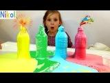 Челлендж ЦВЕТНАЯ ПЕНА Как сделать ВУЛКАН Цветной Пены COLOR FOAM How do VOLCANO Color Foam