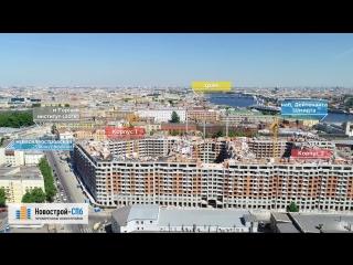 Жилой квартал «Палацио» от застройщика Setl City (аэросъемка: май 2018 г.)