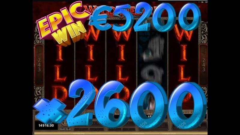 Immortal Romance MicroGaming x2600 MEGA BIG WIN €5200