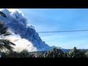 Извержение на вулкане Этна Сицилия Италия Eruption on Etna volcano Sicily Italy