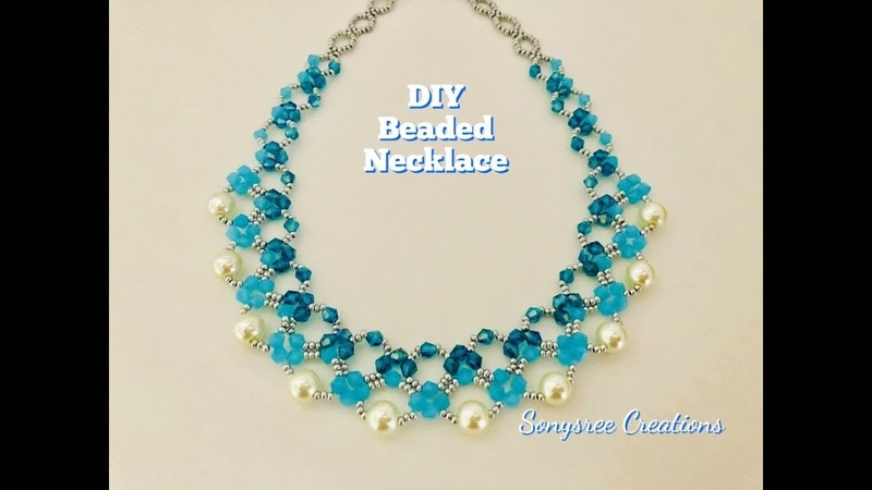 Mother's Day Gift Idea DIY Beaded Necklace Bicone Pearl Necklace 💞