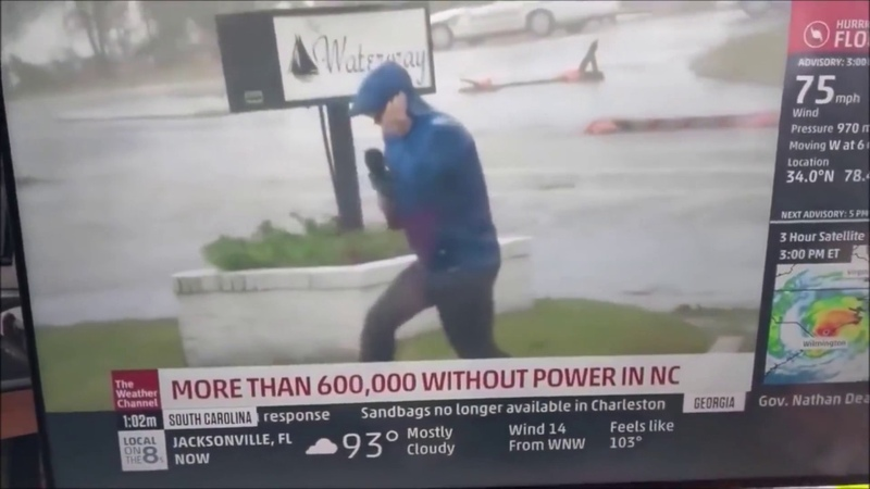 BUSTED.Fake Hurricane Florence report from The Weather Channel