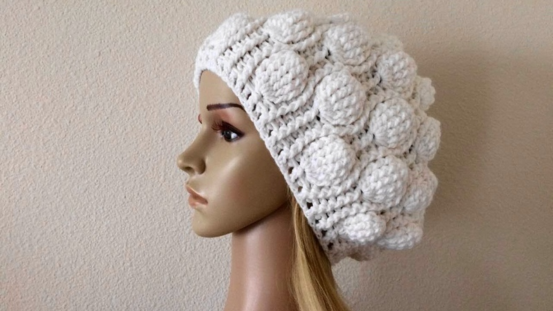 How To Crochet A Knob Stitch Hat, Lilu's Handmade Corner Video 184
