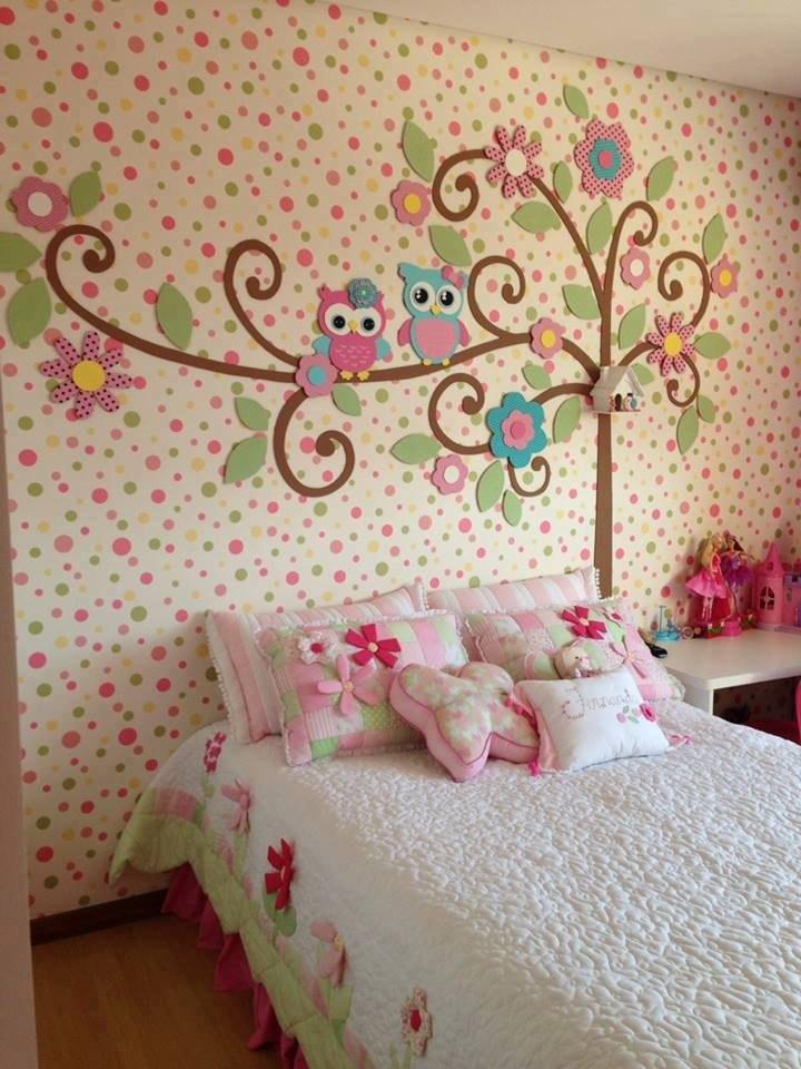 Украшаем стены в детской комнате своими руками фото