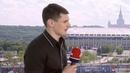 Дмитрий Орлов перед футбольным матчем Россия Египет