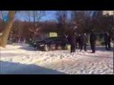 Люди в масках и с битами на Клочковской. Харьков (26 января 2014 г.)