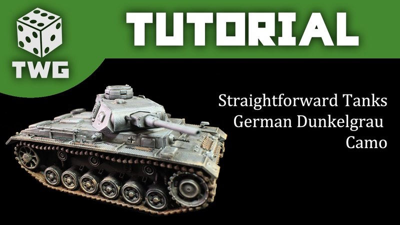 Bolt Action Tutorial: How To Paint WW2 German Grey Camo - Panzer III