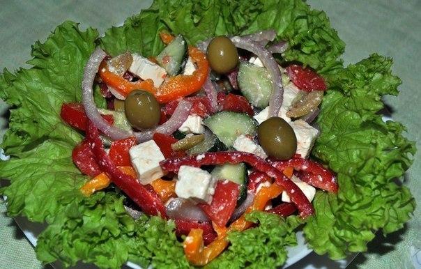 410Как украсить салат греческий