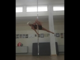 Marchetti Alessandra Spinning pole play with 2 lovely split