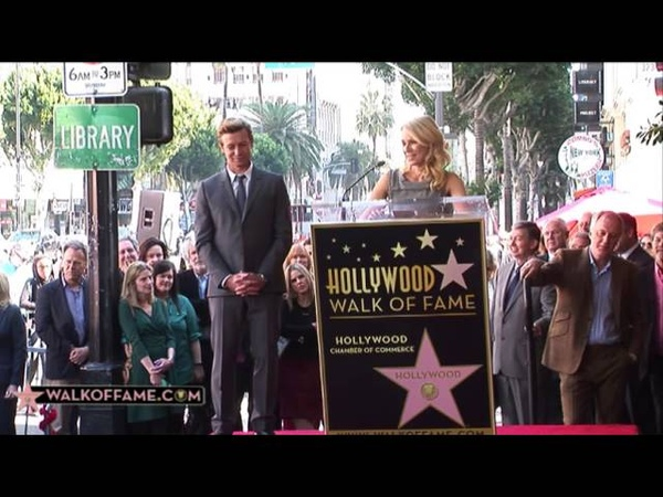 Simon Baker receives his Star in the Walk of Fame of Hollywood