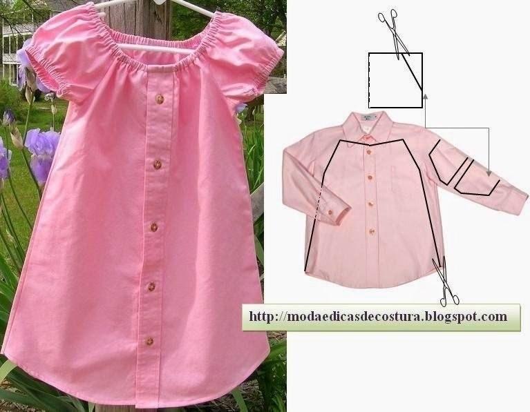 Платье рубашка сшить девочке