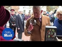 The Prince of Wales tries a local gin while visiting Ely