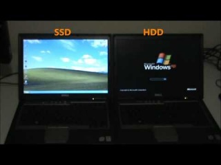 120GB SanDisk Extreme SSD VS 120GB Western Digital Scorpio HDD on an old Dell Latitude D630 Laptop