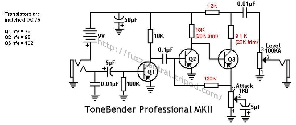 Tonebender MK II clone problem on pro co rat, ibanez tube screamer, boss ds-1 schematic, ross compressor schematic, overdrive schematic, guitar pedalboard, marshall shredmaster, fuzz schematic, univox super-fuzz, phaser schematic, guitar schematic, shin-ei companion fy-2,