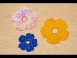 Схема вязания крючком простые цветы 1 / /  Scheme simple crochet flowers 1
