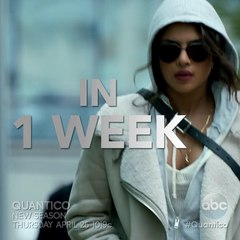 "Quantico on Instagram: ""Prepare yourselves. #Quantico returns in ONE WEEK!"""