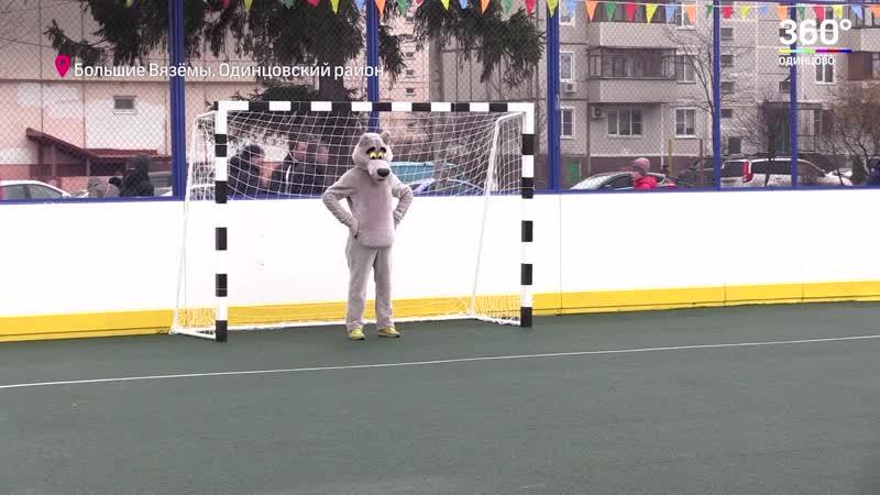 Многофункциональную спортивную площадку открыли в Больших Вязёмах