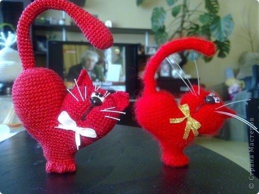 Котик к дню Святого Валентина от Марины Шадриной. Описание.