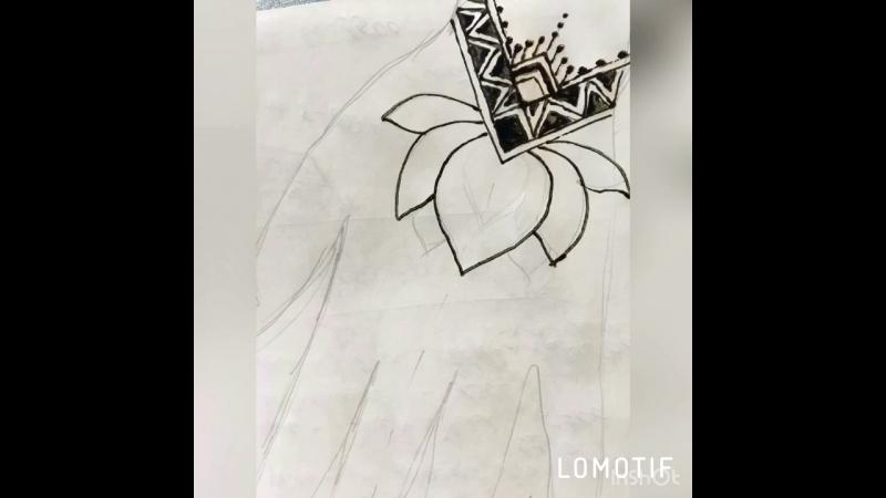 Роспись хной орнамент на руке 1!🌹
