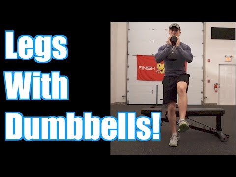 Top 5 Dumbbell Leg Exercises (Quads, Glutes, Hamstrings!)
