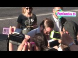 Zach Galifianakis greets fans at The Campaign Premiere in Hollywood