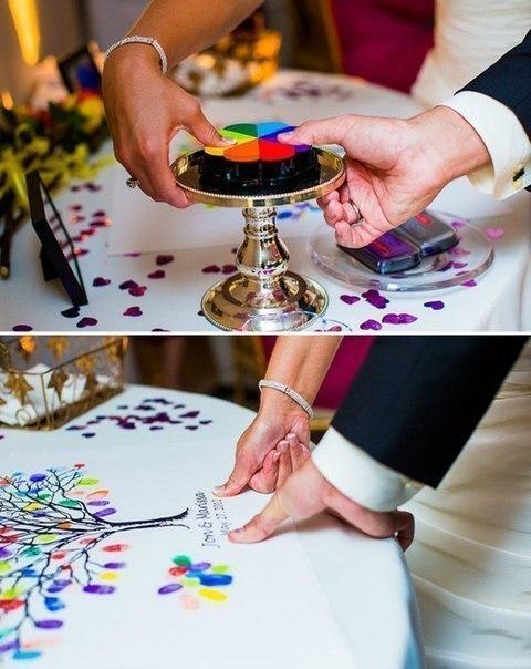 Идея: гостевая книга на свадьбу (1 фото) - картинка