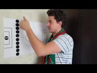 Тактика которой придерживался Локомотив в матче со спартаком