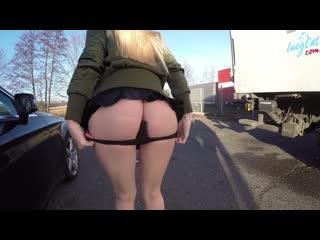 Lucycat public anal fuck (german, homemade, anal, cum, swallow, slut, анал, минет, публичное, домашнее)