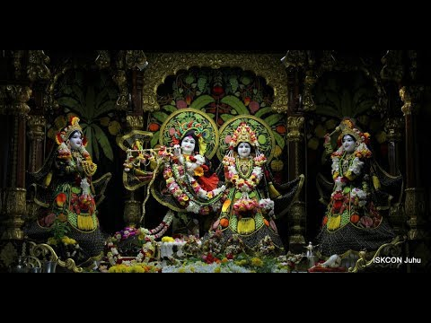 Sringar Arati Darshan Sri Sri Radha Rasbihari Temple 15th Sep 2018 Live from ISKCON Juhu, Mumbai