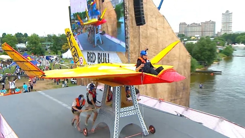 Red Bull Flugtag festival Homemade flying machines awe Moscow