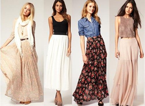 Как носить длинное платье в пол