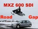 MXZ 600 SDI - SICK ROAD GAP CARVING ! (GoProHD) - 2013