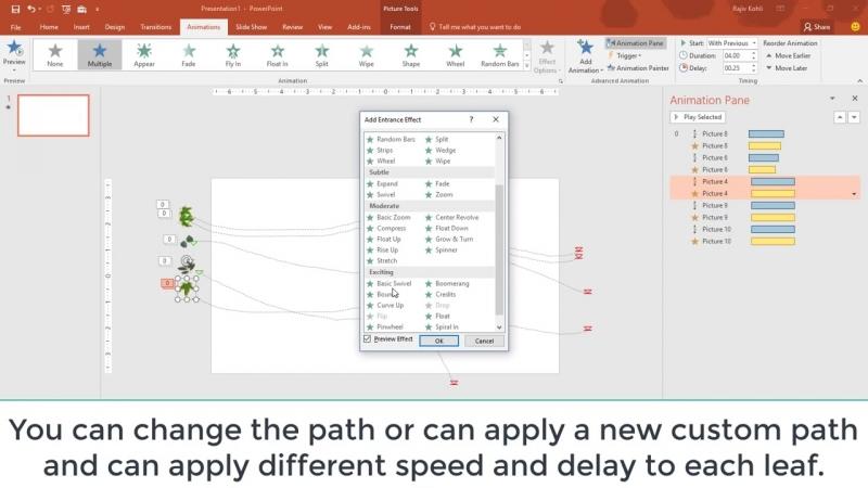 Easy Method of Creating Animation Scene in PowerPoint 2016 Tutorial _ The Teache