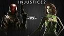 Injustice 2 Красный Колпак против Ядовитого Плюща Intros Clashes rus