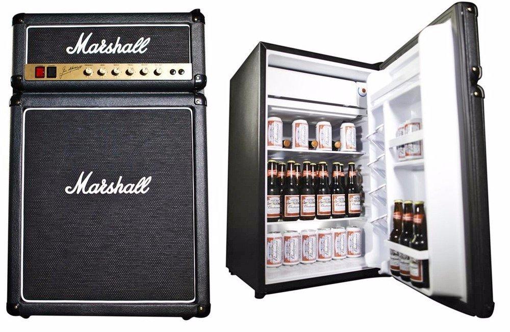 Холодильник для напитков, замаскированный под гитарный комбик Marshall