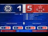 Сибирь  - ПХК ЦСКА 1 - 5 лучшие моменты матча