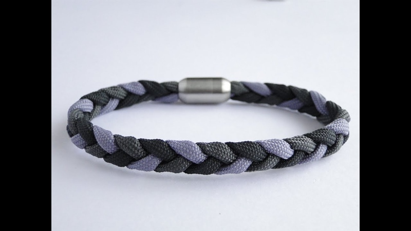 How to Make a Three Strand Flat Braid Magnetic Clasp Paracord Bracelet