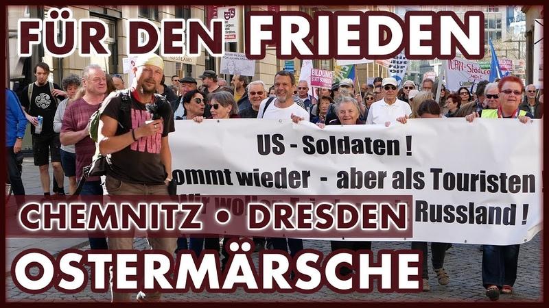 Gemeinsam für den Frieden Ostermarsch 2019 Chemnitz und Dresden