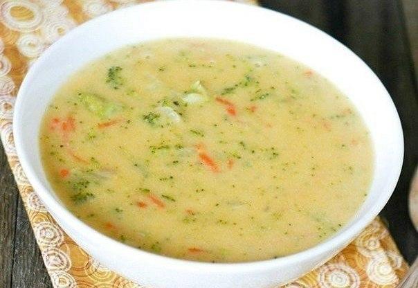 Сырный суп с рисом