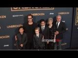 Брэд с детьми на премьере фильма «Несломленный» в Лос-Анджелесе
