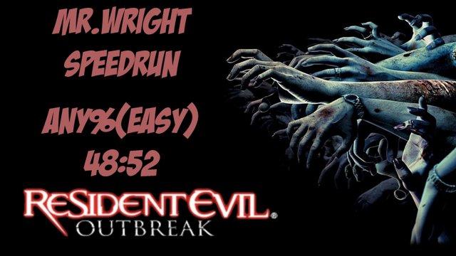 Resident Evil Outbreak - Any Speedrun - 4852 [Easy]