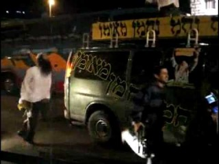 Breslov Hasidic Street Dancers and IDF Soldiers in Tiberias