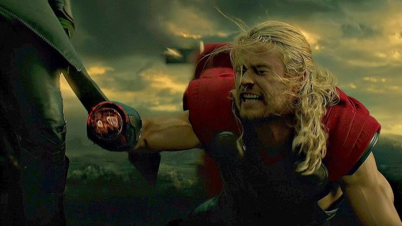 Локи отрубает Тору руку. Тор 2: Царство тьмы. 2013
