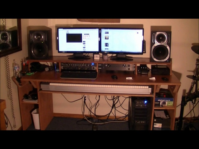 Video Response to CJD How to build a Recording Studio Desk Under $100 Dollars