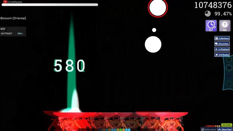 Osu!catch | ekr | Eisyo-kobu - Oriental Blossom [Oriental] HD,DT | 98.80% 650/793 757pp